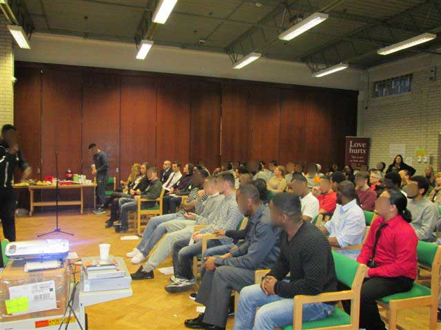Feltham Young Offenders Institute – Pitching to the audience
