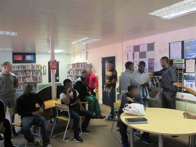 Feltham Young Offenders Institute – Getting ready in the library