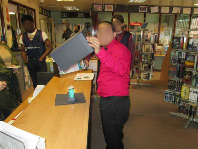 Feltham Young Offenders Institute – Participant showing off his props